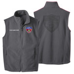 F219 - S141E001 - EMB - Fleece Vest with Laser Etch Back