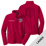 L217 - S141E001 - EMB - Ladies Fleece Jacket with Laser Etch Back